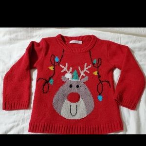 M&Co size 2/3 Rudolph Sweater w/ light up nose